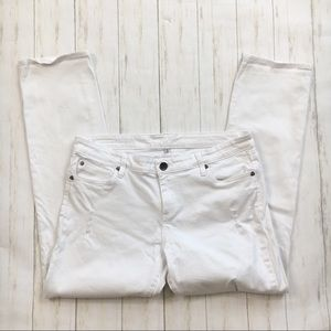 Kut From The Kloth White Distressed Slim Leg Jeans